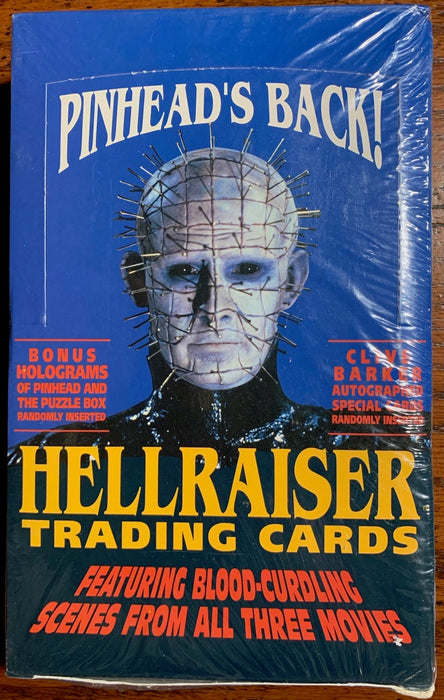 1992 Hellraiser Trading Card 36ct Sealed Box Eclipse Pinhead   - TvMovieCards.com