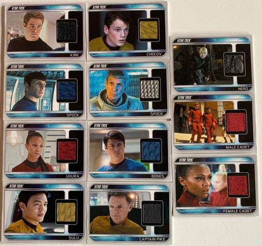 Star Trek The Movie 2009 Costume Card Set CC1-CC11 11 Different   - TvMovieCards.com