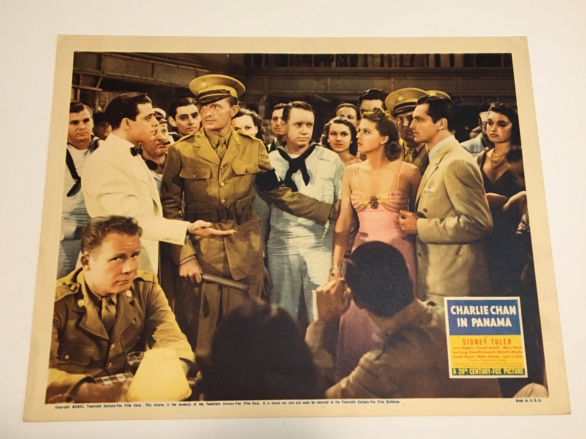 Original Charlie Chan In Panama - 1940 Lobby Card #1 Sidney Toler Rogers Atwill
