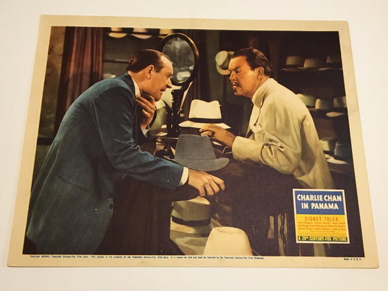 Original Charlie Chan In Panama - 1940 Lobby Card #2 Sidney Toler Rogers Atwill