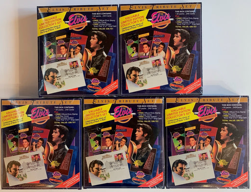 Complete Elvis Tribute 1-5 Box card Set Collection - Factory Sealed  River Group   - TvMovieCards.com