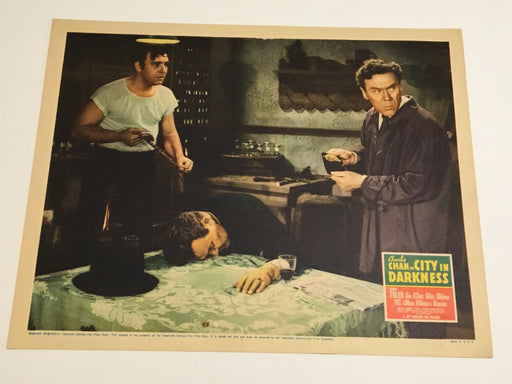 Original 1939 Charlie Chan - City in Darkness Lobby Card Sidney Toler Lon Chaney   - TvMovieCards.com