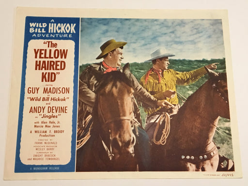 Original 1953 - Yellow Haired Kid Lobby Card - Guy Madison as Wild Bill Hickok   - TvMovieCards.com