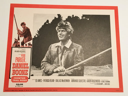 Daniel Boone: Frontier Trail Rider 1966 Lobby Card #1 Fess Parker Patricia Blair   - TvMovieCards.com