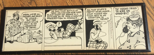 Frank Willard Moon Mullins Comic Strip Original Art  Framed 7-31  Hand SIGNED Bl   - TvMovieCards.com
