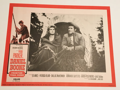 Daniel Boone: Frontier Trail Rider 1966 Lobby Card #4 Fess Parker Patricia Blair   - TvMovieCards.com
