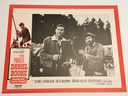 Daniel Boone: Frontier Trail Rider 1966 Lobby Card #5 Fess Parker Patricia Blair   - TvMovieCards.com