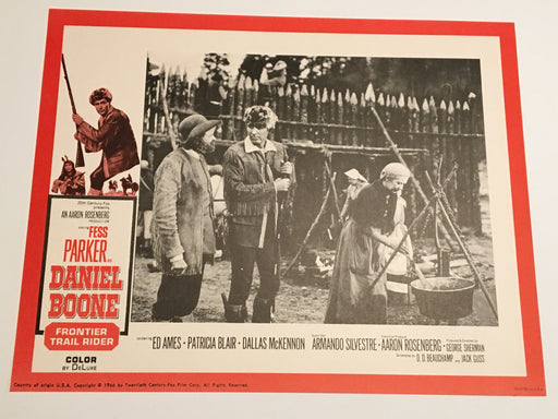 Daniel Boone: Frontier Trail Rider 1966 Lobby Card #6 Fess Parker Patricia Blair   - TvMovieCards.com