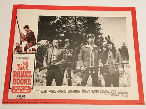Daniel Boone: Frontier Trail Rider 1966 Lobby Card #7 Fess Parker Patricia Blair   - TvMovieCards.com