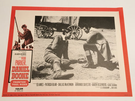 Daniel Boone: Frontier Trail Rider 1966 Lobby Card #8 Fess Parker Patricia Blair   - TvMovieCards.com