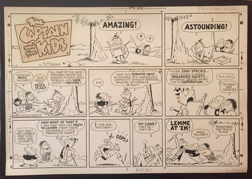 The Captain and the Kids Comic Strip Original Art By Rudolph Dirks Solving Man's   - TvMovieCards.com