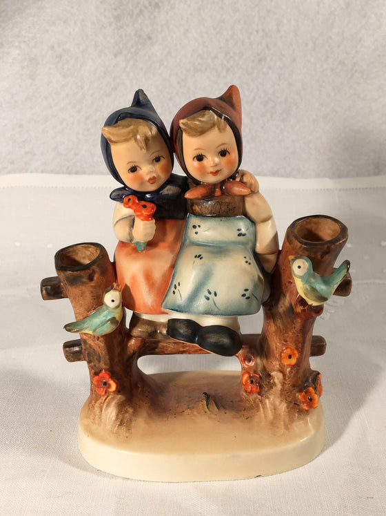 "Goebel Hummel TMK3 #179 ""Coquettes"" (Two girls on a fence) 5"" Tall"