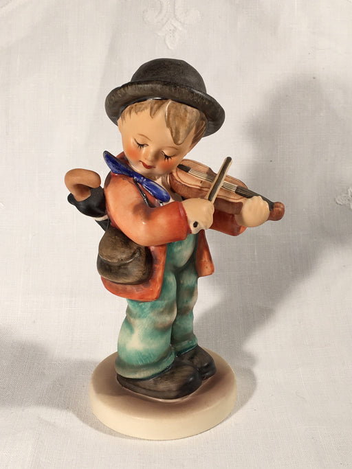 "Goebel Hummel TMK5 #4 ""Little Fiddler"" (Boy playing Fiddle) 5"" Tall   - TvMovieCards.com"