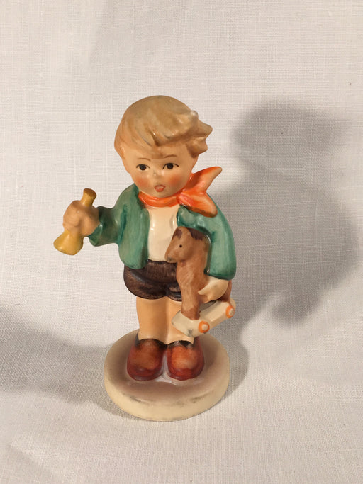 "Goebel Hummel TMK5 #239/0 ""Boy with Rocking Horse"" 3.25"" Tall   - TvMovieCards.com"