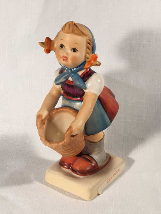 "Goebel Hummel TMK5 #73 ""Little Helper"" (Girl with Basket) 4.25"" Tall   - TvMovieCards.com"