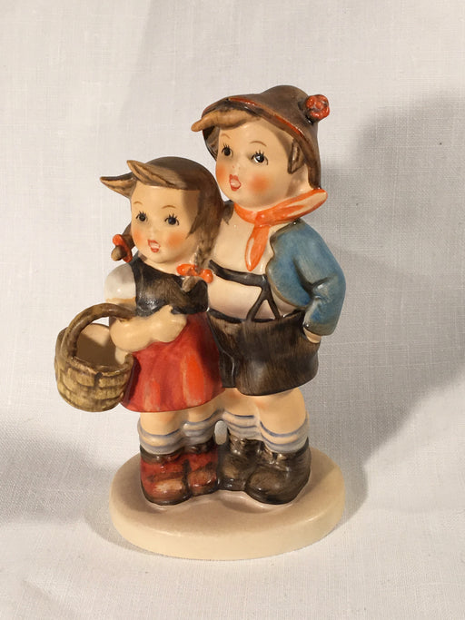 "Goebel Hummel TMK5 #94 3/0 ""Surprise"" (Boy / Girl with Basket) 4"" Tall   - TvMovieCards.com"