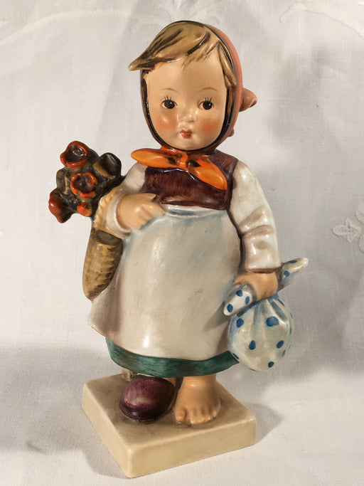"Goebel Hummel TMK4 #204 ""Weary Wanderer"" (Girl with Flowers) 5.75"" Tall   - TvMovieCards.com"