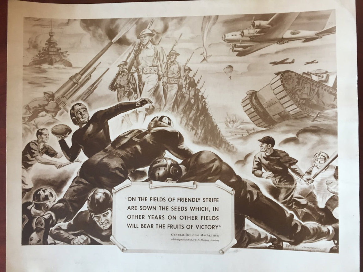 "World War II ""The Fruits of Victory"" General Douglas MacArthur Army Propaganda Poster 1940's 2/9"