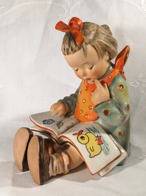 "Large Goebel Hummel Figurine TMK3 #3/I ""Book Worm"" (Girl Reading) 5.50"" Tall   - TvMovieCards.com"