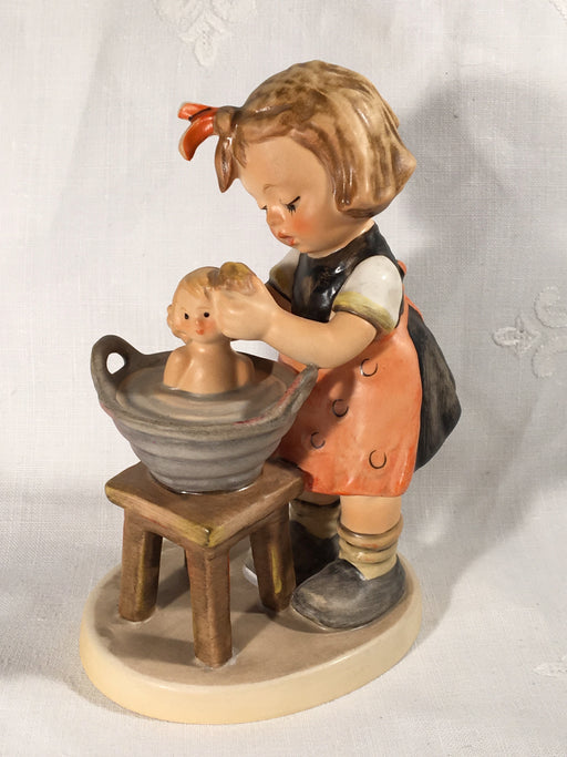 "Goebel Hummel Figurine TMK5 #319 ""Doll Bath"" (Girl Wash Tub) 5"" Tall   - TvMovieCards.com"
