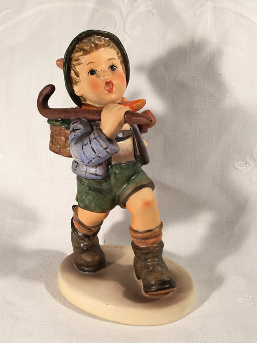 "Goebel Hummel Figurine TMK5 #327 ""The Run-a-way"" (Runaway Boy) 5.5"" Tall   - TvMovieCards.com"
