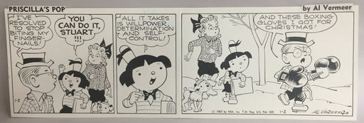 Priscilla's Pop Comic Strip Original Art by Al Vermeer 1-2-1967   - TvMovieCards.com