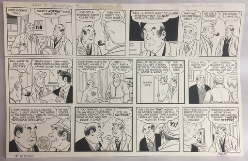 Micky Finn Comic Strip Original Art by Morris Weiss 1-31-1971   - TvMovieCards.com