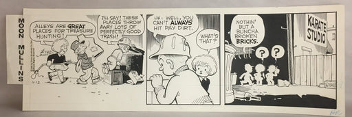 Moon Mullins Comic Strip Original Art by Ferd Johnson 11-12-1965   - TvMovieCards.com