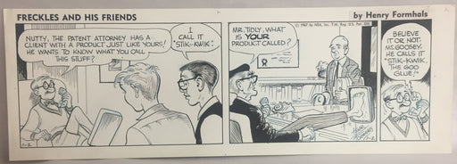 Freckles and His Friends Comic Strip Original Art By Henry Formhals 1-2-1967   - TvMovieCards.com