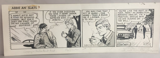 Abbie An' Slats Daily Comic Strip Original Art by Raeburn Van Buren 6-17-1967   - TvMovieCards.com