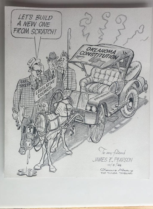 Let's Build a New One  Comic Strip Art By Clarence Allen Tulsa Tribune 10/8/1966   - TvMovieCards.com