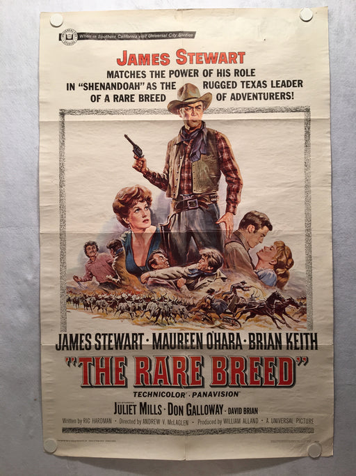 The Rare Breed 1966 1SH 1 Sheet Movie Poster 27x41 James Stewart Western   - TvMovieCards.com