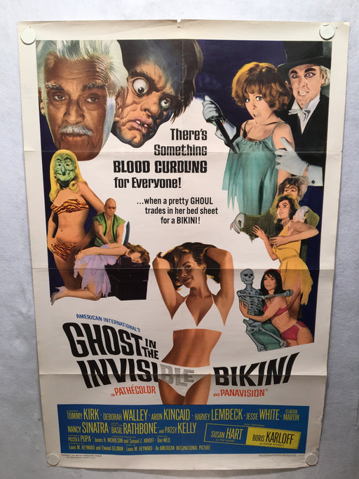 Ghost in the Invisible Bikini 1966 1SH 1 Sheet Movie Poster 27x41 Horror   - TvMovieCards.com