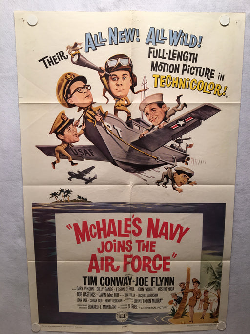 Mchale's Navy Joins the Air Force 1965 1SH 1 Sheet Movie Poster 27x41 Tim Conway   - TvMovieCards.com