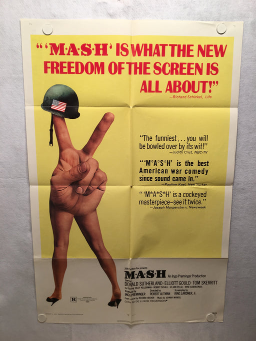 Mash 1970 1SH 1 Sheet Movie Poster 27x41 Donald Sutherland Gould Skerritt   - TvMovieCards.com