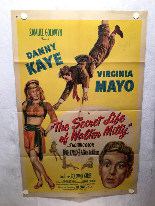 The Secret Life of Walter Mitty 1947 1SH 1 Sheet Movie Poster 27x41   - TvMovieCards.com
