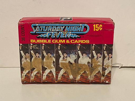 1977 Saturday Night Fever Movie Vintage Empty Trading Card Box + 36 Wrappers   - TvMovieCards.com
