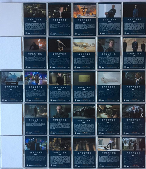 James Bond Archives 2016 Spectre Numbered Gold Parallel Card Set 76 Cards   - TvMovieCards.com