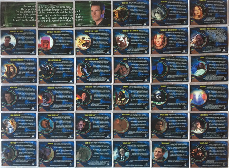 Farscape Season 4 Progressive Proof Card Set Magenta / Red 72 Cards 217-288   - TvMovieCards.com