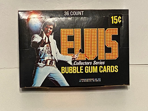 1978 Elvis Vintage Empty Trading Card Box + 36 Wrappers Donruss   - TvMovieCards.com