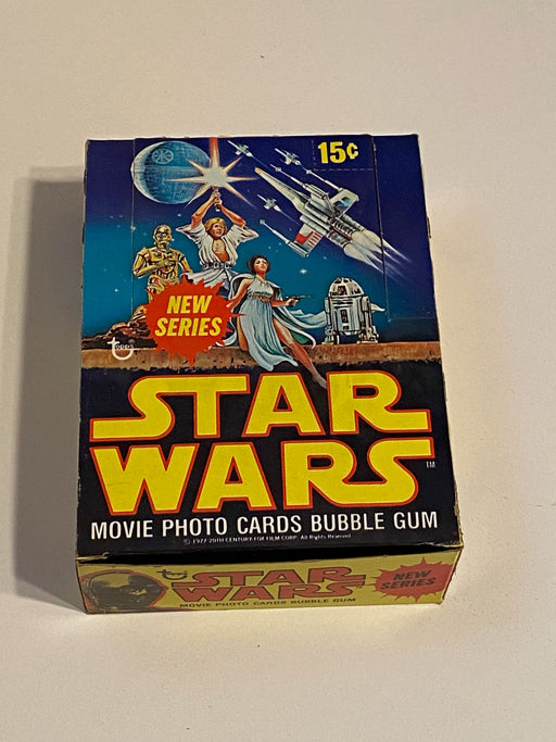 1977 Star Wars Series 2 Empty Gum Vintage Trading Card Wax Box + 25 Wrappers   - TvMovieCards.com