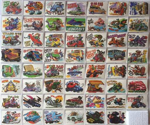 Weird Wheels Stickers Vintage Card Set 55 Cards   - TvMovieCards.com