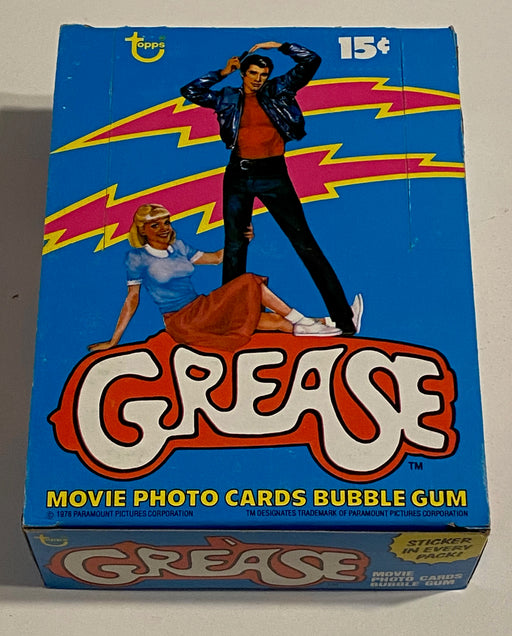 1978 Grease Series 1 Empty Bubble Gum Vintage Trading Card Box + 36 Wrappers   - TvMovieCards.com