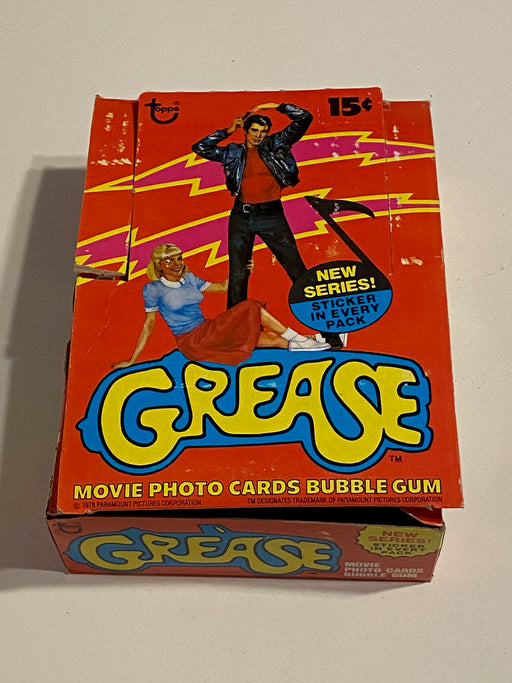 1978 Grease 2nd Series Empty Bubble Gum Vintage Trading Card Box   - TvMovieCards.com