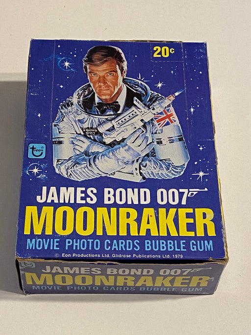 1979 James Bond Moonraker Empty Bubble Gum Vintage Trading Card Box + 35 Wrapper   - TvMovieCards.com