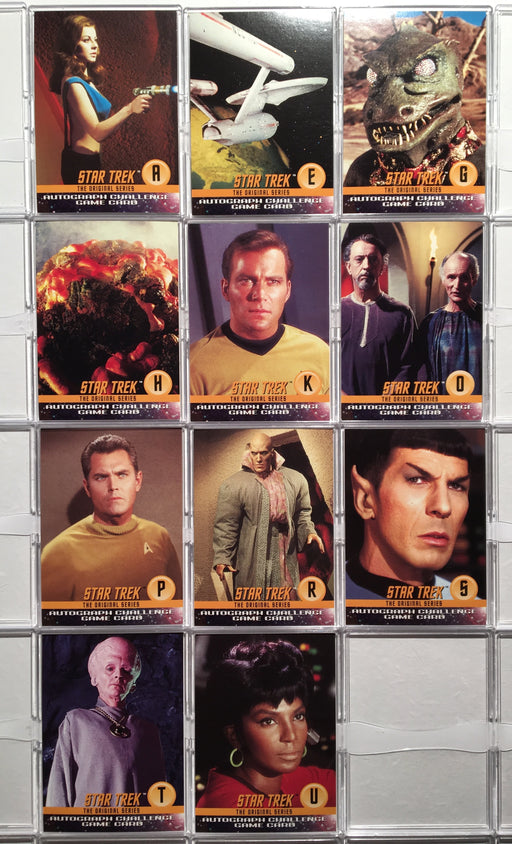 Star Trek The Original Series 1 TOS (11) Autograph Challenge Game Chase Cards   - TvMovieCards.com