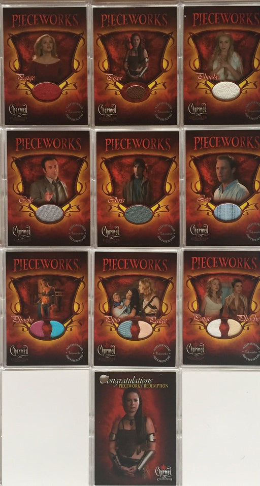 Charmed Connections Pieceworks Costume Card Set PWC1 thru PWC9 & PWR1   - TvMovieCards.com