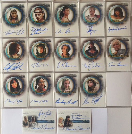 Xena Beauty Brawn Autograph Card Set  with 2 Dual Autographs 16 Cards DA1 DA2   - TvMovieCards.com