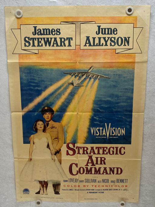1955 Strategic Air Command 1SH Movie Poster 27 x 41 James Stewart, June Allyson   - TvMovieCards.com