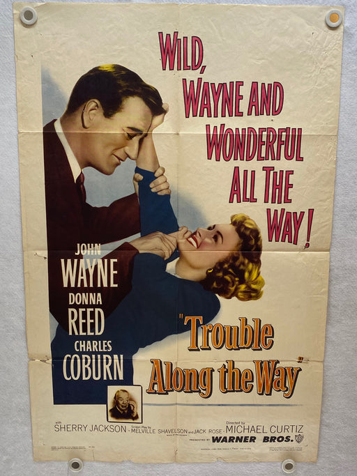 1953 Trouble Along the Way 1SH Movie Poster 27 x 41 John Wayne Donna Reed   - TvMovieCards.com